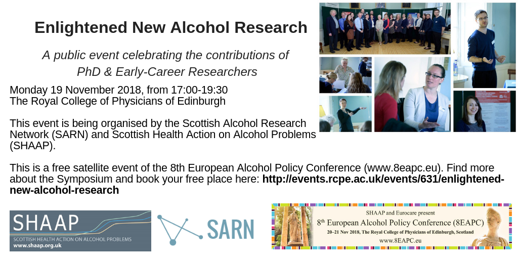 Enlightened New Alcohol Research event 19 11 18